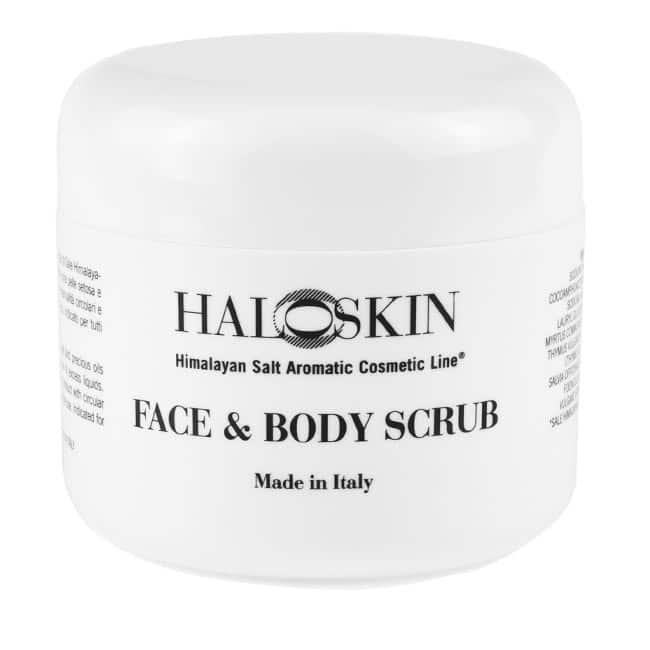 face and body scrub jar